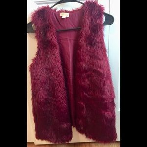 Decree Fur Vest Jacket